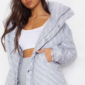 Pretty Little Thing Grey Puffer Jacket